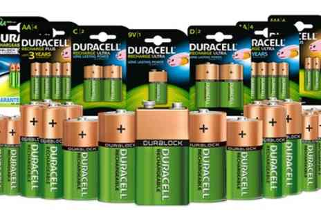 Groupon Goods Global GmbH - Up to 16 Duracell Rechargeable Batteries - Save 60%