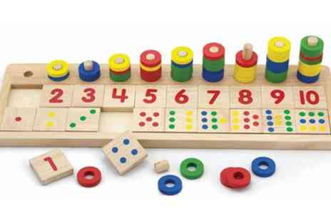 Groupon Goods Global GmbH - Viga Wooden Count and Match Numbers Educational Toy - Save 33%
