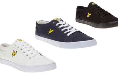 Groupon Goods Global GmbH - Lyle & Scott Mens Halket Canvas Low Top Sneakers in a Choice of Colour - Save 0%
