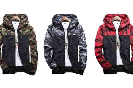 Groupon Goods Global GmbH - Mens Hooded Camo Jacket - Save 40%