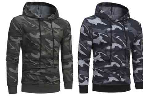 Groupon Goods Global GmbH - Mens Camo Hoodie in Choice of Colour - Save 63%