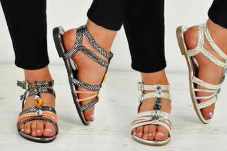 Groupon Goods Global GmbH - Womens Jewelled Sandals - Save 0%