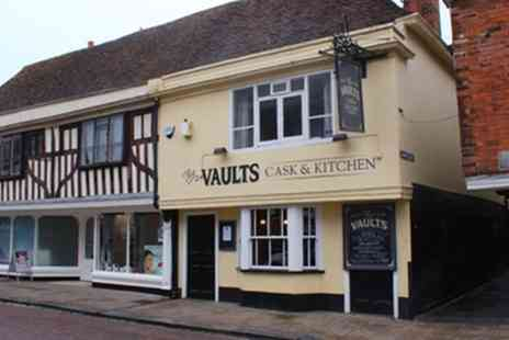 The Vaults - Two Course Meal with a Glass of Wine for Two or Four - Save 54%