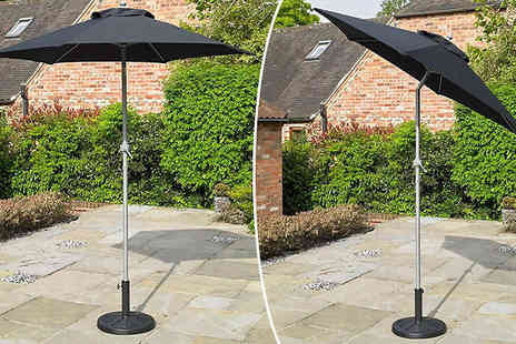 Vendes - 2m Tilting Parasol Choose from 2 Colours - Save 50%