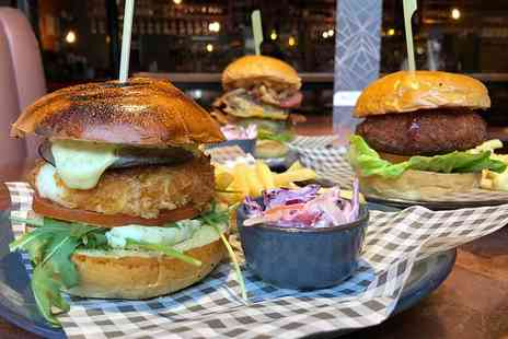 Walrus - Burger or pizza with a glass of wine, bottle of beer, house spirit and mixer or soft drink for two - Save 48%