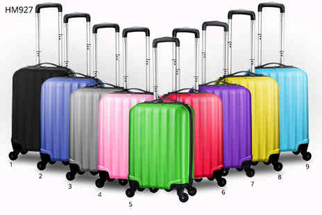Desire London - Lightweight four wheeled hard shell cabin luggage choose various colours - Save 62%
