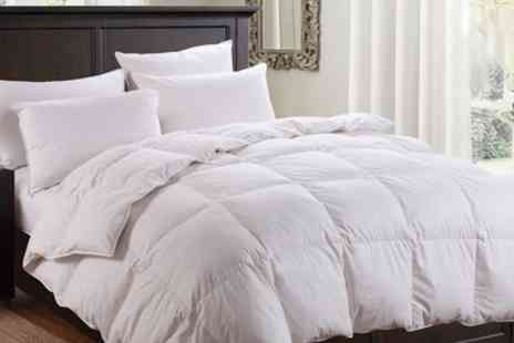 Groupon Goods Global GmbH - Dickens Duck Feather Duvet in Choice of Sizes and Togs - Save 72%
