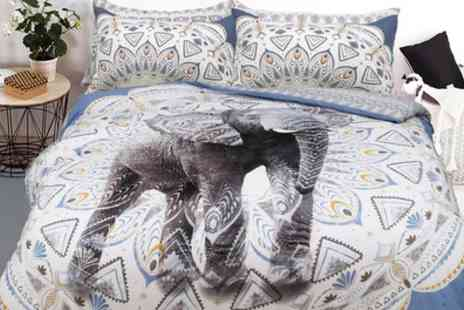 Groupon Goods Global GmbH - Pieridae Aztec Elephant Duvet Set in Choice of Size - Save 69%