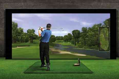 Affordable Golf - Up to Ten Sessions of 60 Minute Golf Simulator Play for One or Two - Save 80%