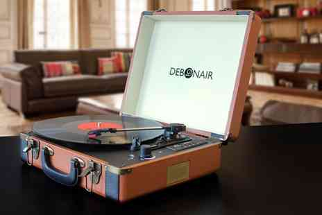 Groupon Goods Global GmbH - Debonair Retro Turntable Record Player with Bluetooth and Usb With Free Delivery - Save 0%
