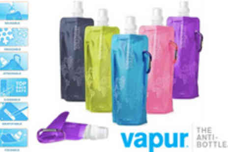 Silicone 17 - Two reusable Vapur water bottles - Save 64%