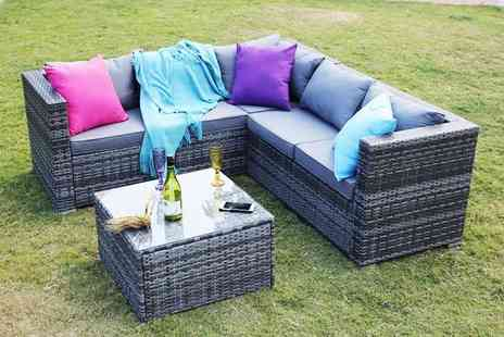 Dreams Outdoors - Five seater Yakoe Monaco modular rattan corner sofa set or include a rain cover - Save 69%