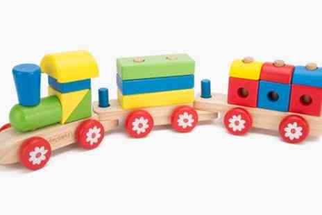 Groupon Goods Global GmbH - Toytopia Wooden Stacking Train - Save 0%
