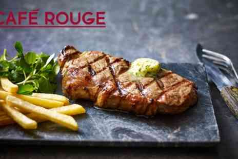 Cafe Rouge - Choice of Main Course with Drinks for Two or Four - Save 50%