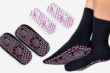 Groupon Goods Global GmbH - Up to Four Pairs of Magnetic Health Socks - Save 0%