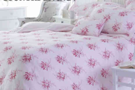 Country Living Show - Vintage Rose Single Duvet  Oxford Pillowcase - Save 68%