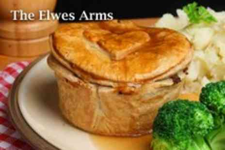 The Elwes Arms - 2 course meal for 2 incuding starters, mains & a glass of wine each - Save 59%