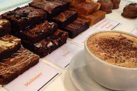 The Brownie Bar - Four brownies and two drinks or eight brownies and four drinks - Save 49%