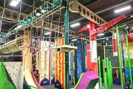 Sky High Adventure - Clip and Climb Experience with Leap of Faith or Vertical Drop Slide for Up to Four - Save 38%