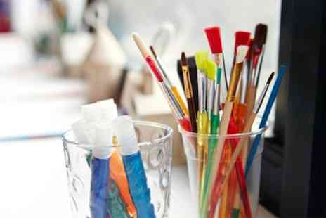Paint a Pot Studio - Painting Craft Event Entry with Refreshments for Up to Ten - Save 57%