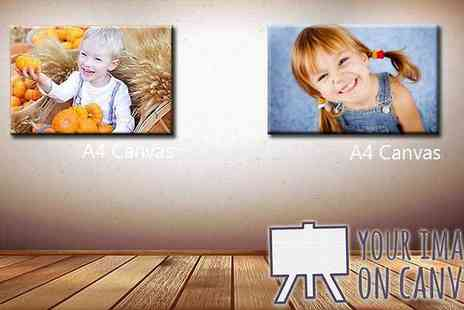 Your image on a canvas - Personalised A4 Canvas Print - Save 88%