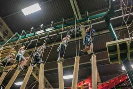 Sky High Adventure - One Hour High Ropes Course for One, Two or Four - Save 50%