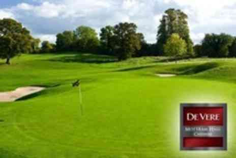 De Vere Mottram Hall - 18 Holes of Golf For Two Plus Food and Hot Drink Each - Save 0%