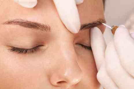 London Body Centre - Semi permanent hair stroke eyebrow microblading treatment or microblading treatment and top up - Save 61%