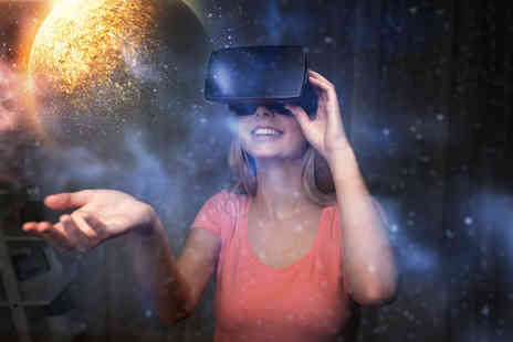 Adrenaline International - 30 minute VR experience and a 12 inch pizza for one or two - Save 52%