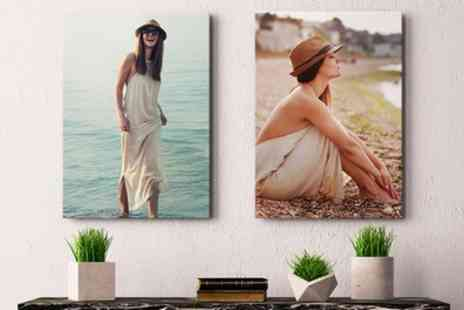 Photo Gifts - Up to Four Personalised Canvas Prints - Save 80%