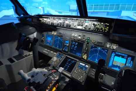 Jet Sim School - Up to 90 Minute Boeing 737 Flight Simulator Experience - Save 56%