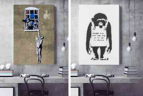 Deco Matters - Banksy canvas choose from 51 designs - Save 92%