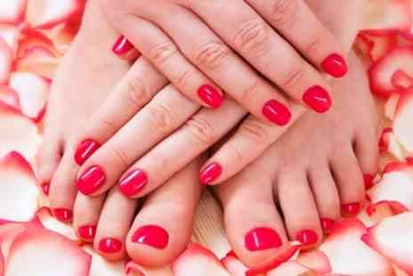 Pedicure Plus - Manicure, Pedicure or Both - Save 56%