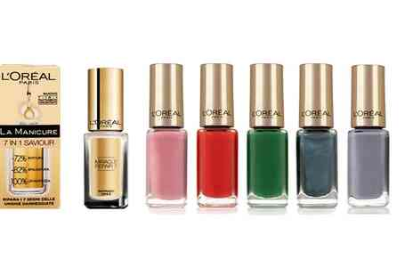 Groupon Goods Global GmbH - Fifteen LOreal Color Riche Nail Polishes and One La Manicure Nail Serum - Save 0%
