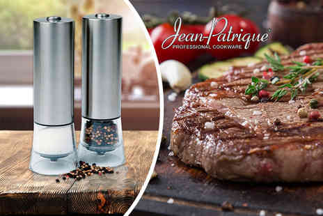 Jean Patrique - Pair of electronic salt and pepper mills - Save 88%