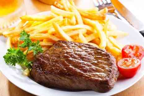 Stocc Lodge - 10oz Steak with Chips, Salad and Coleslaw Each for Two or Four - Save 50%