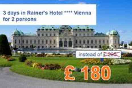 Rainers Hotel - 4 star Hotel Vienna for 3 days for two - Save 39%