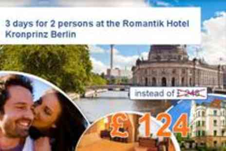 Romantik Hotel - Berlin feeling for 3 days for two - Save 50%