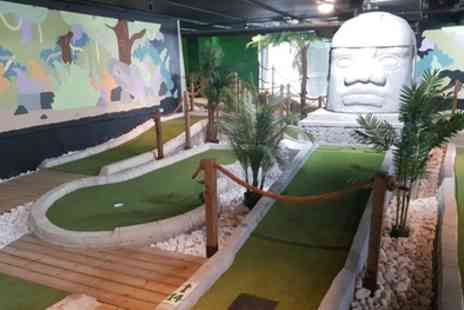 Jungle Rumble Adventure Golf - 18 Holes of Crazy Golf for One, Two or Family of Four - Save 39%