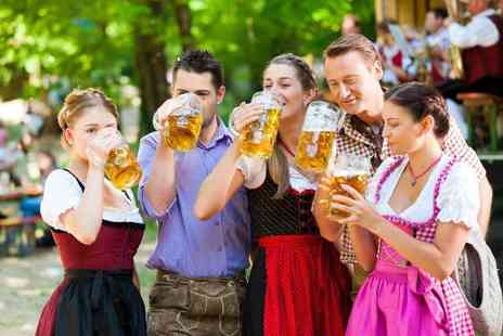 Oktoberfest - Two tickets to Oktoberfest including a bratwurst with fries and half a pint of German beer each - Save 50%
