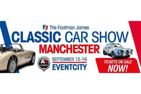 AMR Events - Adult or family ticket to The Footman James Classic Car Show in Manchester on 15th or 16th Sep 2018 - Save 44%