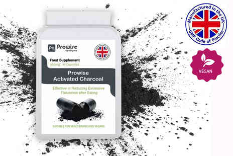 Prowise Healthcare - One month supply of activated charcoal capsules - Save 73%