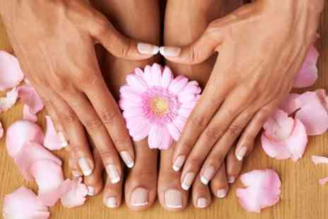 Anam Hair and Beauty Salon - OPI Gel Manicure, Deluxe Pedicure or Both - Save 17%
