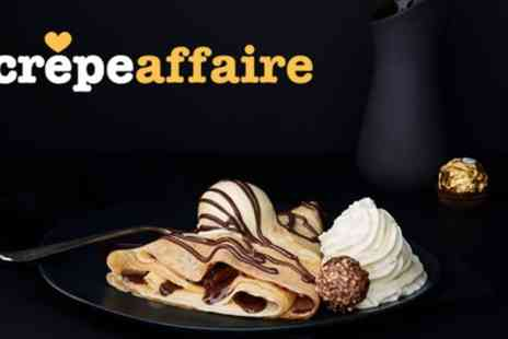 Crepeaffaire - Choice of Any Crepe with Milkshake or Smoothie for Up to Four - Save 42%