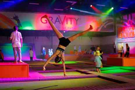 Gravity Trampoline Parks - One hour open jump session for one person - Save 54%