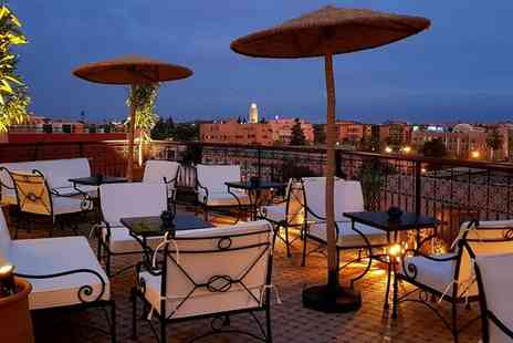 Dellarosa Hotel Suites & Spa - Four Star Stylish Marrakech Getaway For Two with Sky Garden - Save 58%