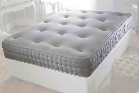 Beds 24hr - Soft touch tufted 1500 pocket memory spring mattress - Save 86%
