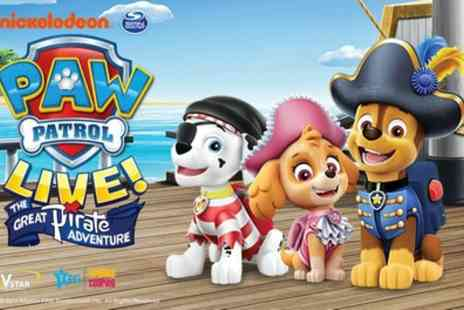 Paw Patrol Live - The Great Pirate Adventure Paw Patrol Live, The Great Pirate Adventure on 2 to 29 August - Save 33%