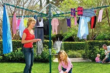 Zoozio - 50m rotary washing line and clothes airer - Save 60%