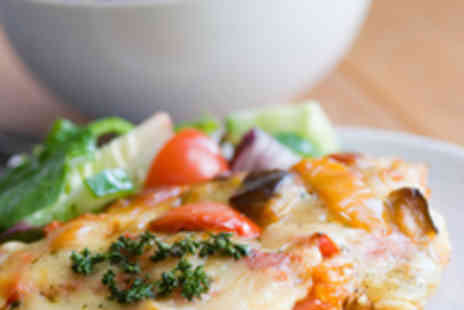 The Italian Kitchen - Pizza or Pasta Dish for Two with Side Salad Each - Save 52%